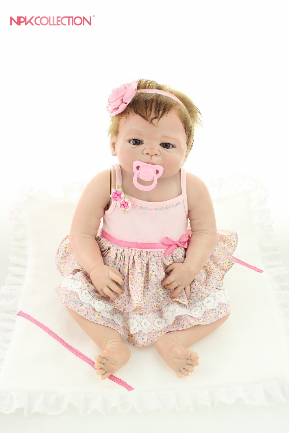 "Здесь продается  NPK reborn baby toy dolls 22""57cm soft silicone vinyl reborn baby girl dolls bebe reborn bonecas play house plamates for girls  Игрушки и Хобби"
