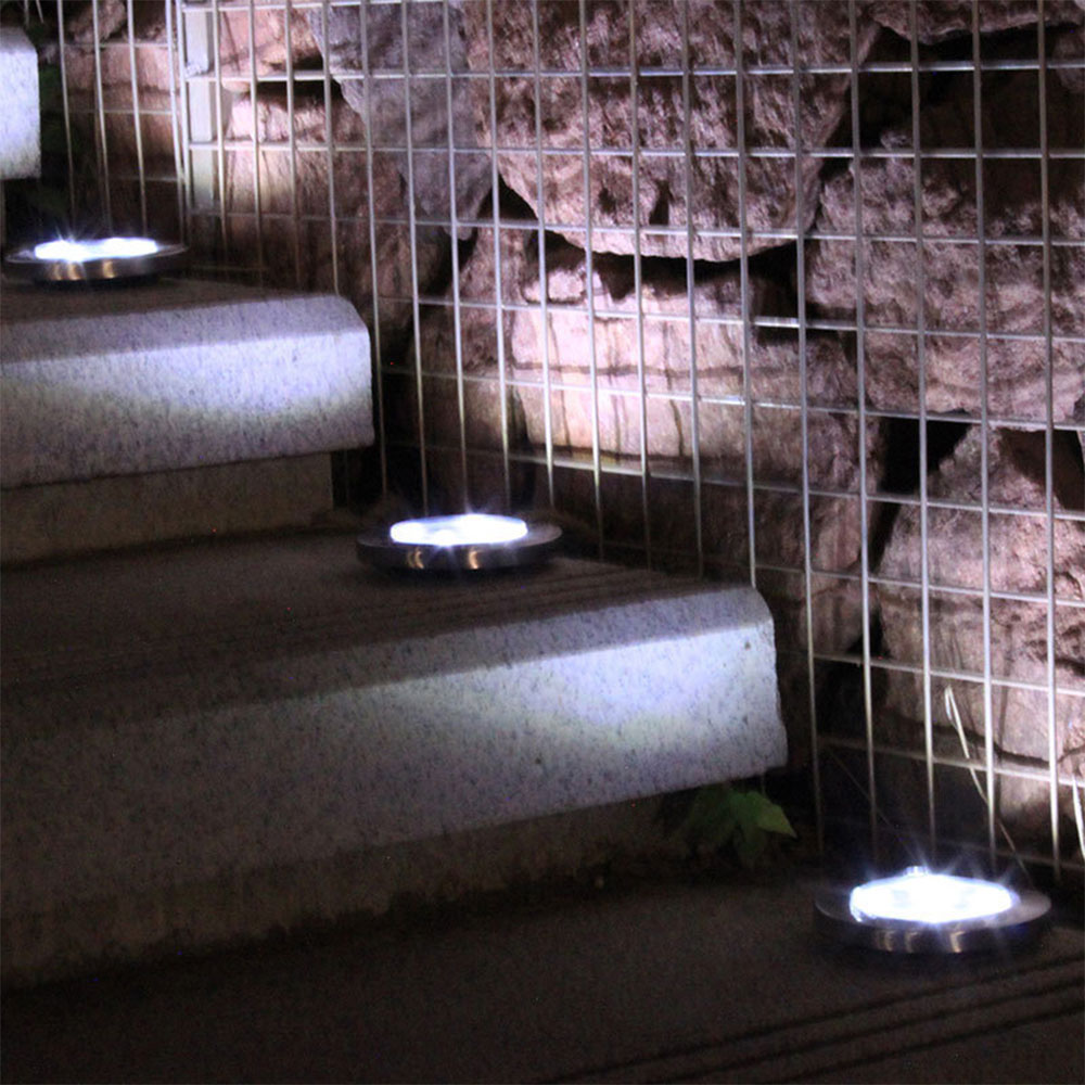 Lawn Yard Pathway Outdoor 12 LED Buried Lamp Solar Power Underground Light