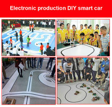 HOT Intelligent Tracking Smart Car Robot DIY Kits with TT Motor Wheel Electronic Drop shipping(China)