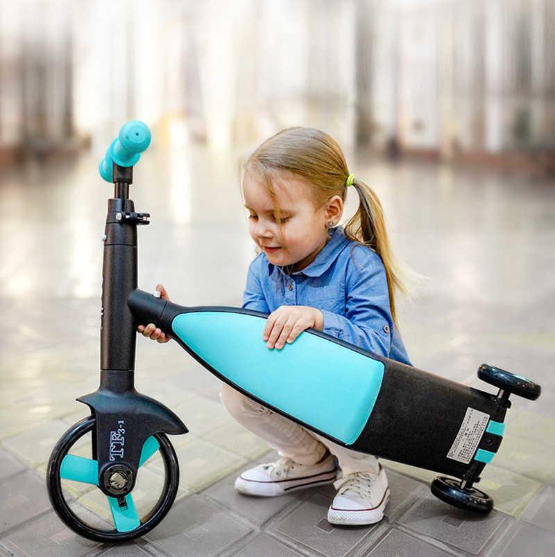 Nadle ילדים kick קטנוע קטנוע תלת אופן אופניים צעצוע רכב מתקפל נסיעות, מתאים לילדים מעל 3 שנים