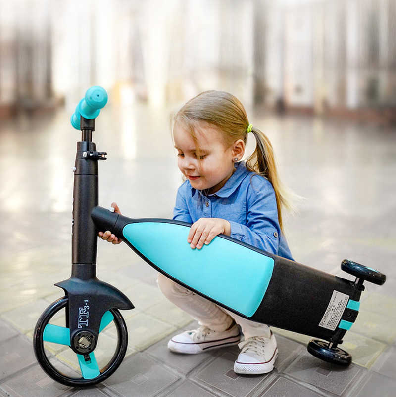 Nadle per bambini kick scooter scooter triciclo giocattolo auto bicicletta pieghevole da viaggio, Adatto per i bambini sopra i 3 anni di età
