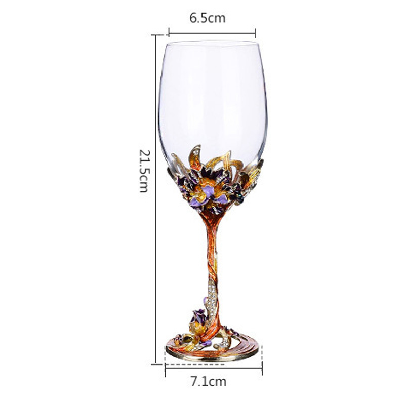 Us 49 36 19 Off Gfhgsd High Grade Crystal Champagne Flutes Stand Metal With Enamel Creative Style Goblet Gles Red Wine Bride Party Decor Ac1 In