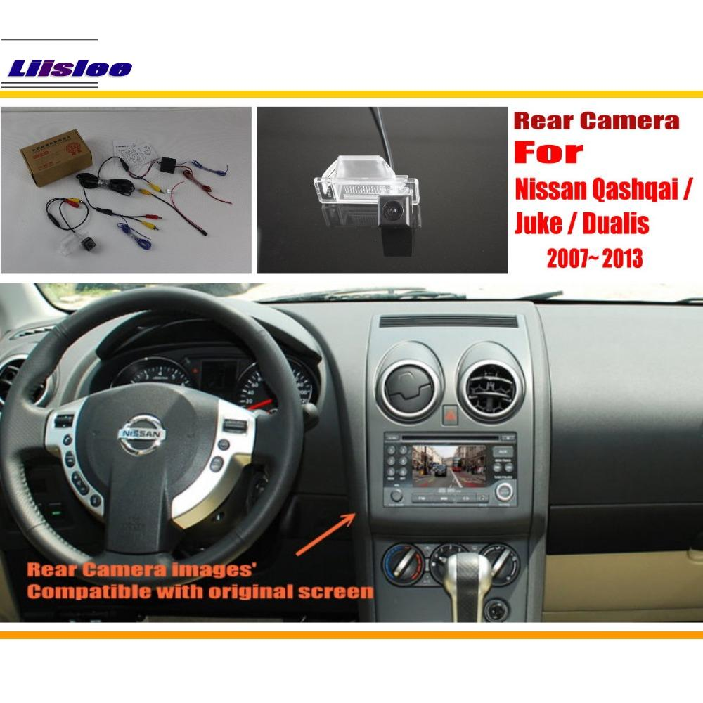 Liislee Rear View Camera / Back Up Reverse Camera Sets For Nissan Qashqai / Juke / Dualis 2007~2013 / Original Screen Compatible