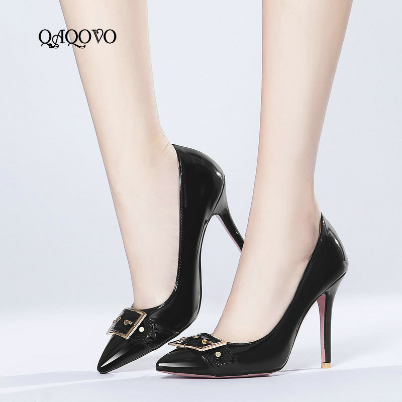 Fashion Patent Leather Women Thin High Heels Sexy Pointed Toe Pumps Slip On Spring Autumn Shoes Woman Apricpt White Red BlackFashion Patent Leather Women Thin High Heels Sexy Pointed Toe Pumps Slip On Spring Autumn Shoes Woman Apricpt White Red Black