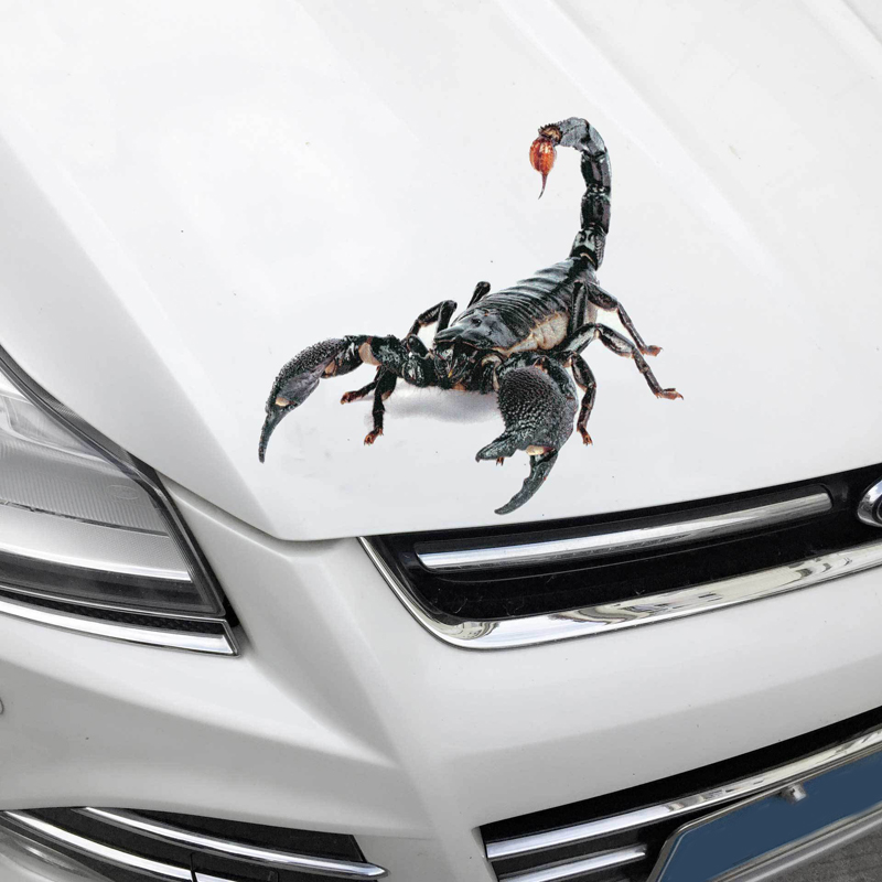 Image 4 - 3D Car Sticker Animals Bumper Spider Gecko Scorpions Car styling Abarth Vinyl Decal Sticker Cars Auto Motorcycle Accessories-in Car Stickers from Automobiles & Motorcycles