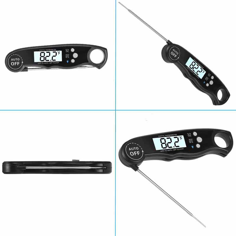 EAAGD Waterproof and Instant Read Food Thermometer with Calibration and Backlight Functions including Long Folding Probe 15