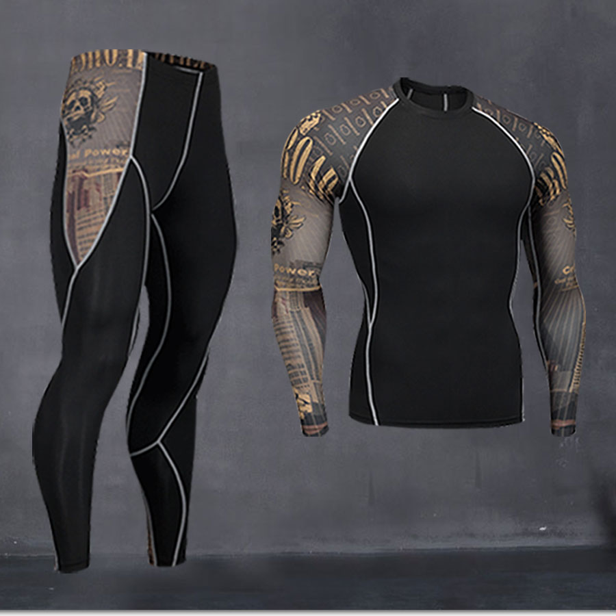 Man Compresses Long Johns Winter Thermal Underwear Base Layer Set Winter Training Running Clothes Men Workout Clothes Set S-4XL