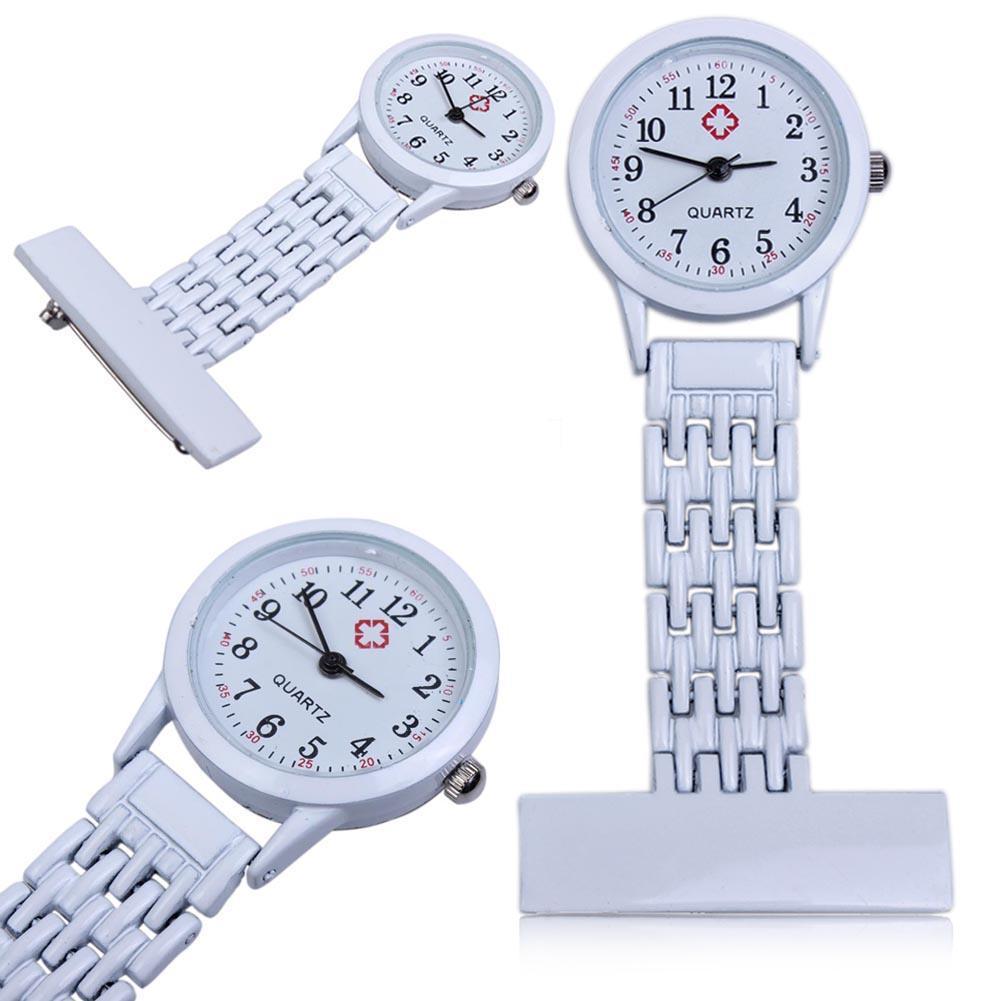 Permalink to Clip-on Fob Quartz Hanging Brooch Round Nurse Pin Watch Luxury Men Women Steel Pocket Watch Relogio Colck Pocket & Fob Watches
