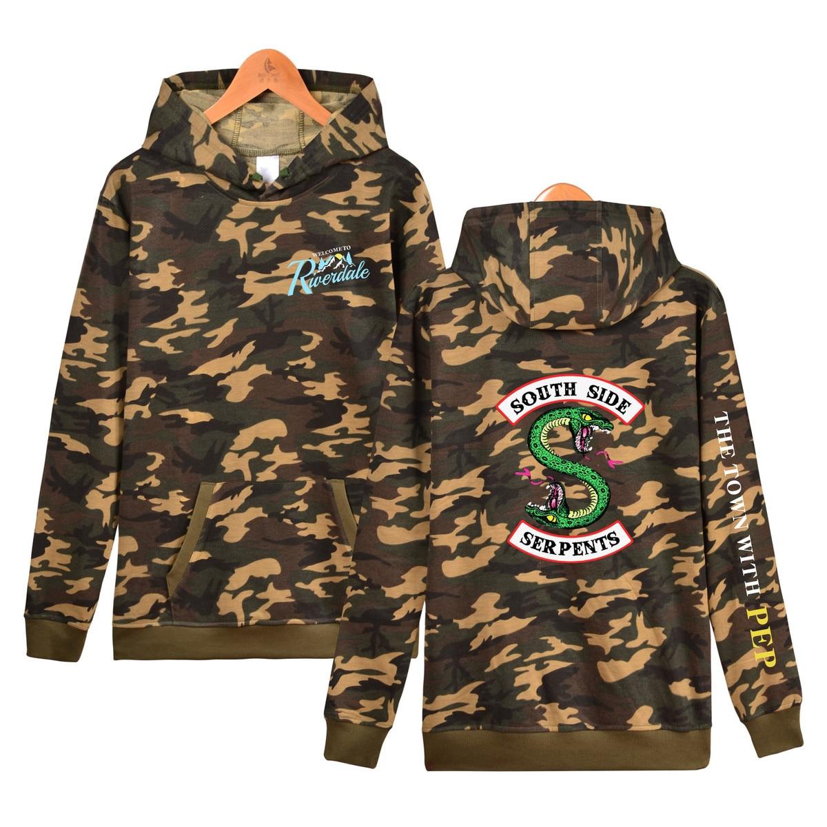 riverdale hoodie woman 2018 hood Hoodies Sweatshirts Hooded camouflage fashion hoddie clothing costume southside serpents hoodie