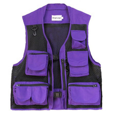 Vest Jackets Multi-Pocket Breathable Sleeveless Waistcoat Mesh Patchwork Tactical-Gilet