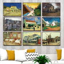 Home Decoration Art Wall Pictures Fro Living Room Poster Print Canvas Paintings Netherlandish Vincent van Gogh  House