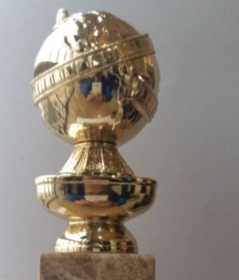 24K Real Gold Plated Metal Golden Globe Trophy Awards Best Quality Zinc Diecast In Sports Souvenirs From