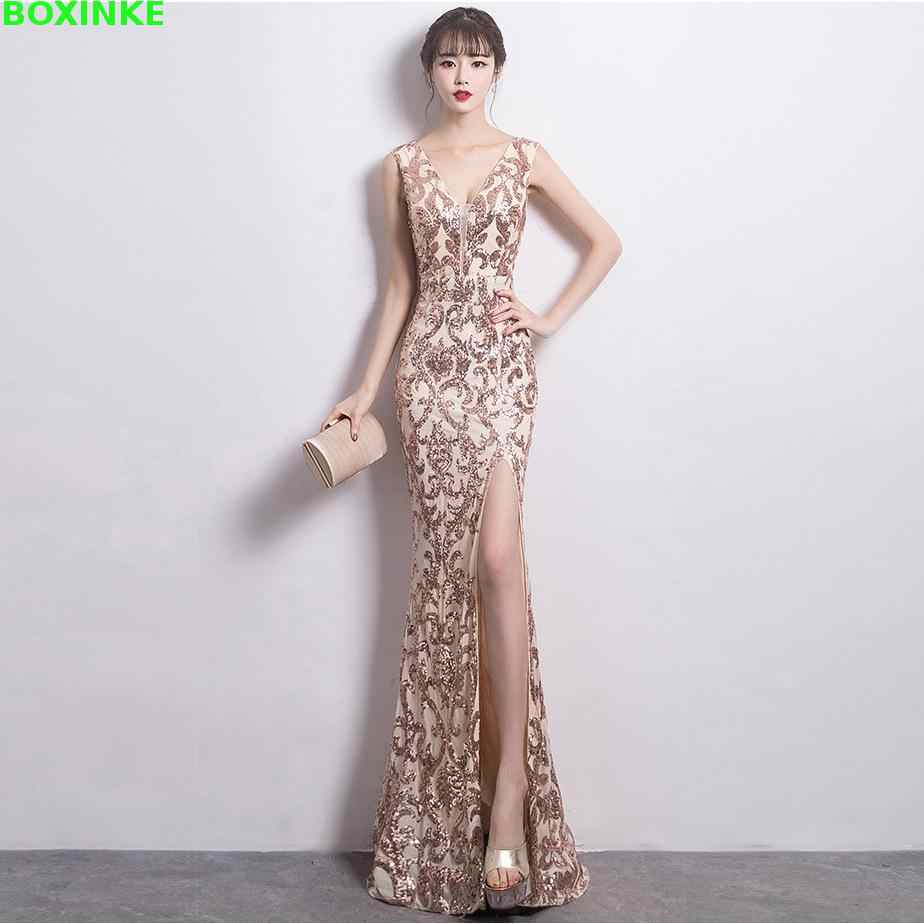 2019 Mesh Limited Zanzea Vadim Women Dress Vestidos De Fiesta New Winter Fashion Golden Banquet Sexy Long Sequins Dresses And