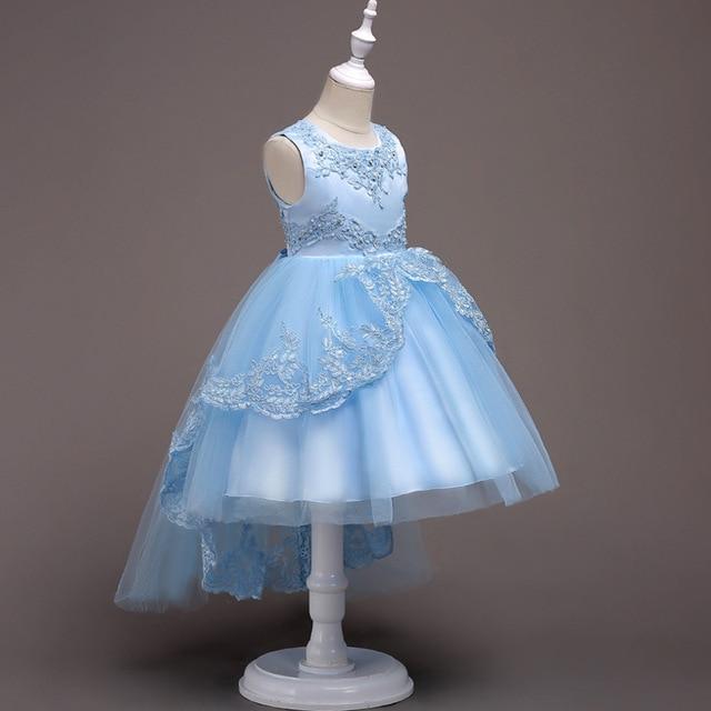 Kinder Feestjurken.Girls Dresses Lace Floral Denim Princess Party Dress Sundress Tutu
