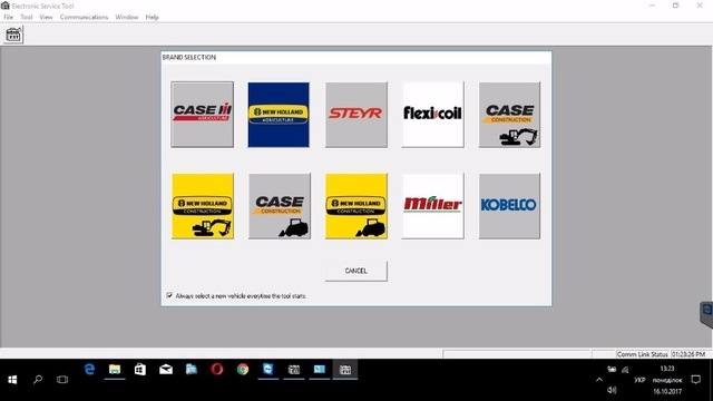 Panasonic CF 19 laptop installed New Holland Electronic Service
