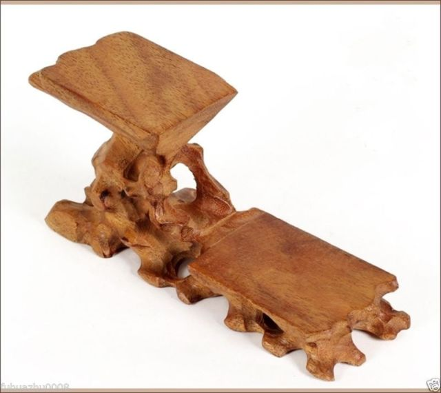 Hard Wood Crafted 40 Tiers High Low Display Stand For Teapot Cup Cool Wooden Display Stands For Figurines