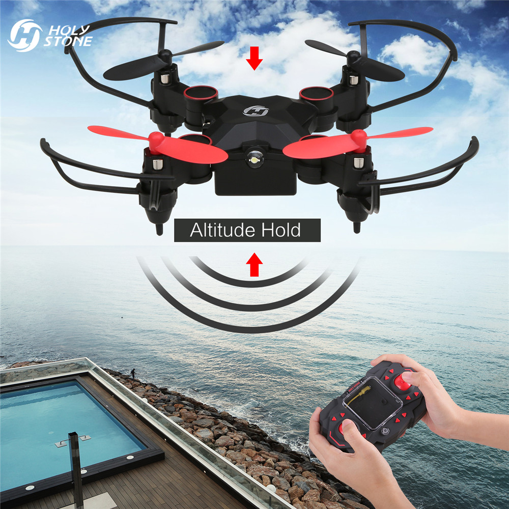 Holy Stone HS190 Drone Nano Mini Foldable Pocket RC Helicopter Altitude Hold 3D Flips Headless Easy Fly Quadcopter for Beginner leadingstar 2018 world cup football foldable rc drone 3d flips one key take off landing headless rc quadcopter helicopter