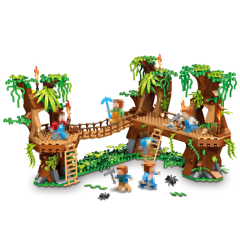 Minecrafter Series Fish Island Forest House Building Blocks for Toddlers Clever Construction Toys Compatible LegoINGlys 686Pcs 259pcs new my world building blocks sets mine and workers scene blocks compatible legoinglys minecrafter toys for childrens