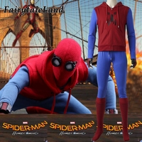 Spider Man Homecoming Spiderman Cosplay Costume custom made Superhero Halloween Costumes for adult cosplay Spider Man clothing