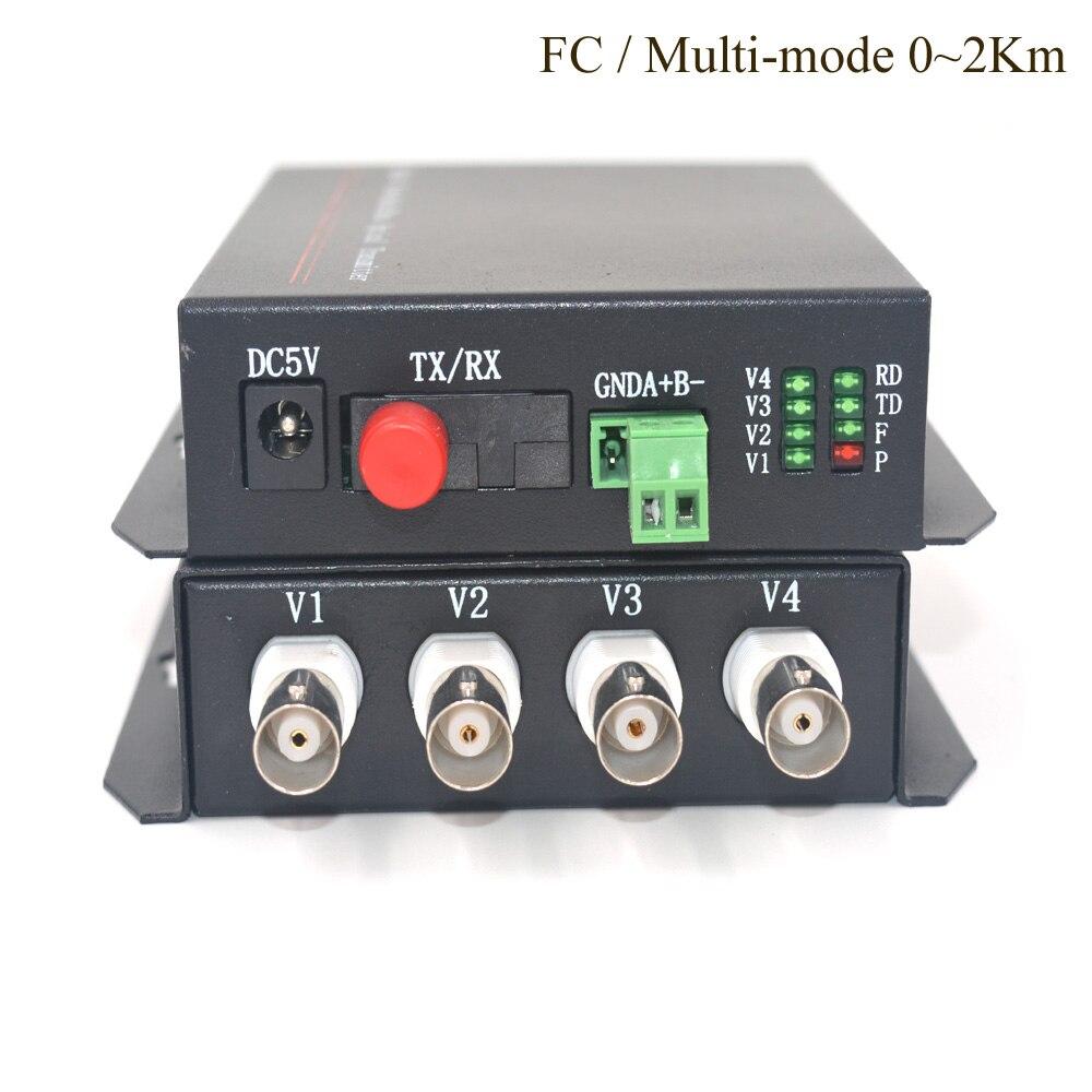 4CH Video Fibra ottica Media Converter (Tx/Rx)-Multi mode 2Km Trasmettitore Ricevitore per il Sistema di Sicurezza CCTV4CH Video Fibra ottica Media Converter (Tx/Rx)-Multi mode 2Km Trasmettitore Ricevitore per il Sistema di Sicurezza CCTV