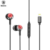 Baseus P02 Wired Earphone Stereo Bass Sound Headset In Ear Earphones With Mic Earpiece For IPhone