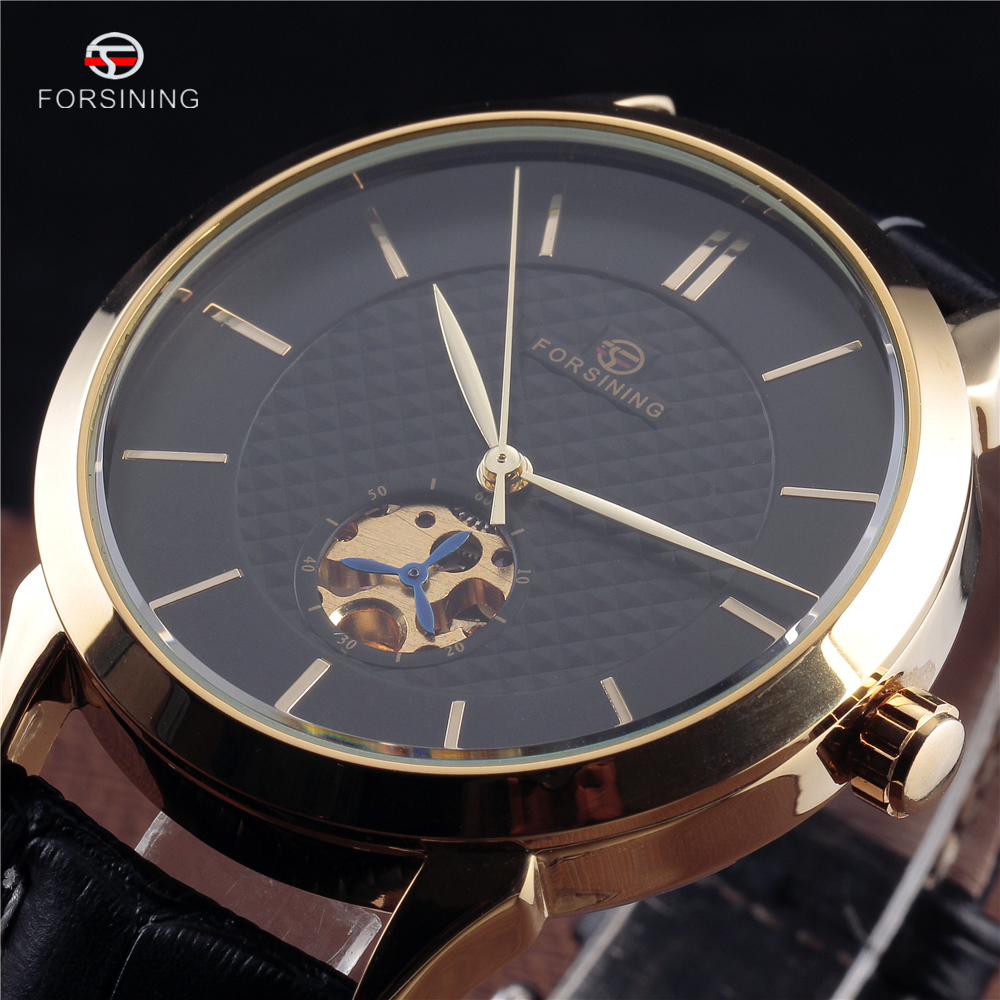 FORSINING Men s Watches 2016 New Fashion Brand Automatic Self Wind Watches Mechanical Watches Men Leather
