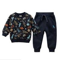 Autumn Spring Baby Girls Boy Clothing Sets Children Velvet Warm Clothes Set Kids Girls Cartoon Coats