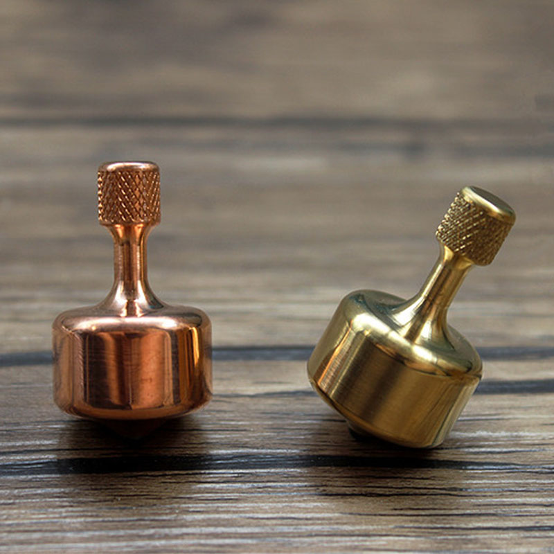 1PC Brass Copper Metal Mini Gyro Inception Gyro Adult Decompression Toy Desktop Play Toys Pocker EDC Tools Accessories Equipment