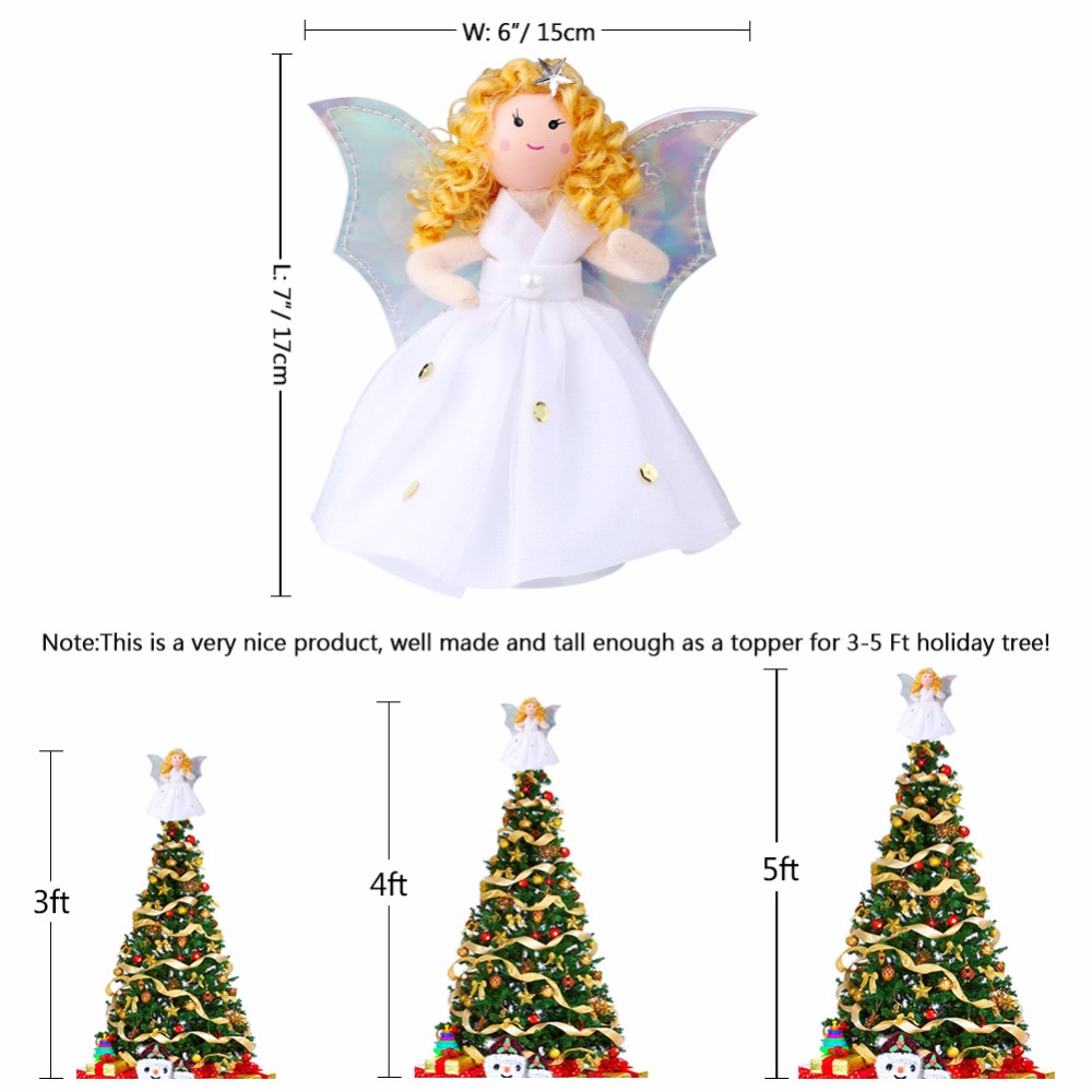 Angel Ornaments For Christmas Tree.Us 3 69 20 Off Ourwarm Christmas Tree Topper Decorations Christmas Tree Angel Ornament Christmas Tree Top Ornaments Navidad Christmas Gift In Tree