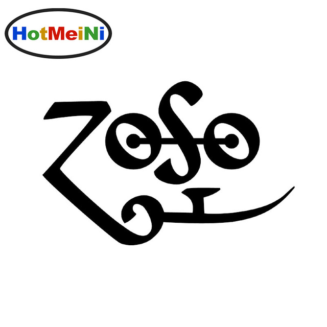 Hotmeini 13cm car sticker decal zoso led zeppelin window bumper laptop wall phone truck boat decorative