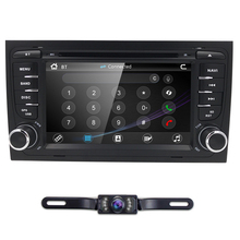 For factory price Audi A4 car dvd player GPS central multimedia with Radio Bluetooth 3G SD/VCD/CD/CD-R/6 CD virtua RDS Steering
