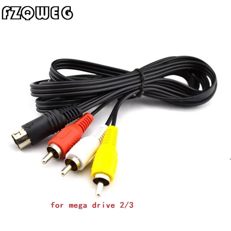 FZQWEG 1 pcs Nouvelle AV Câble 9 broches pour SEGA Mega Drive 2 RCA Cordon pour SEGA Genesis 2 Audio vidéo AV Cordon 6ft RCA