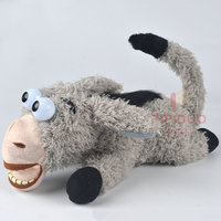 Electric Donkey Toy Robot Donkey Pet Interactive Plush Pet Toys Laughing Rolling On The Ground Gift For Children