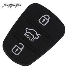 Jingyuqin guma do wymiany przycisk Pad dla Hyundai Solaris Accent Tucson l10 l20 l30 Kia Rio Ceed odwróć obudowa pilota z kluczykiem samochodowym