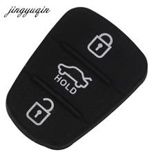 Jingyuqin yedek kauçuk düğme Pad için Hyundai Solaris Accent Tucson l10 l20 l30 Kia Rio Ceed çevirme uzaktan araba anahtarı kabuk