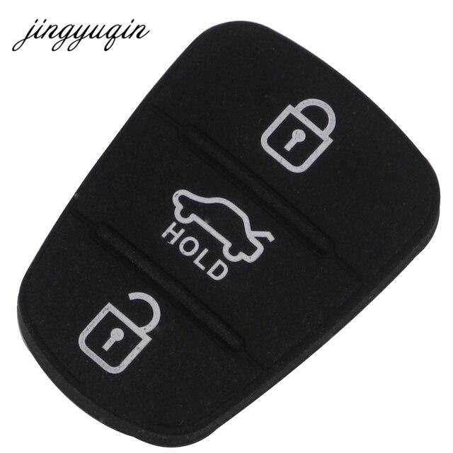 jingyuqin Replacement Rubber Button Pad For Hyundai Solaris Accent Tucson l10 l20 l30 Kia Rio Ceed Flip Remote Car Key Shell