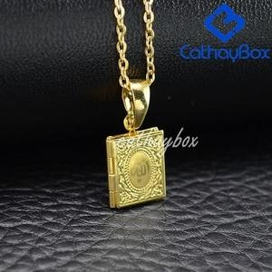 Image 4 - Ramadan Gift Koran Book Locket Necklace Gold Tone Islamic God Allah Quran Charm Pendant Jewelry For Muslim Hot Sale