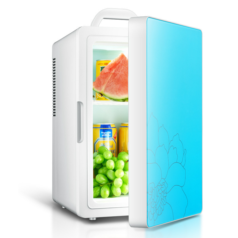 16L Dual-core Portable Car Refrigerator Energy Saving Low Noise Waterproof Double Layer Design Refrigeration Heating Two In One