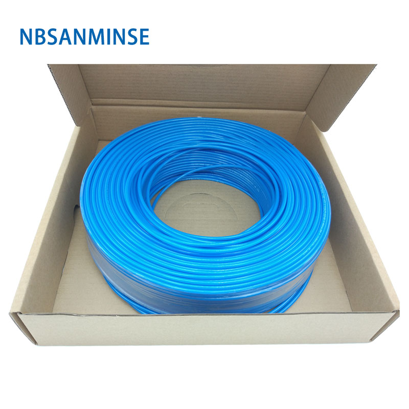 NBSANMINSE 200M / 100M PU Pipe Pneumatic Hose Tube PU Hose Dia. 6 8 10 12 14 16 Low Pressure For Compressed Air only