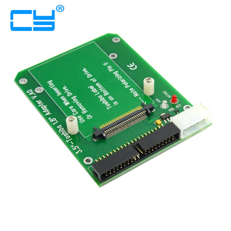 50PIN 1.8 Micro Drive to 3.5 40pin IDE Adapter for Toshiba Hard Disk Drive sd memory card to ide 44 pin hard disk adapter creates a ssd solid state drive