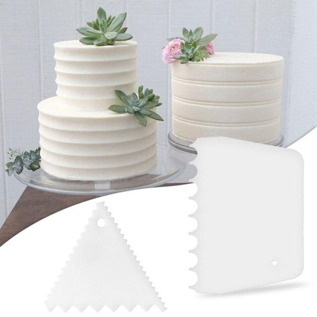 1 pz Torta Spatola Crema Liscia Pasta Raschietto Jagged Edge Pianura Liscia di C