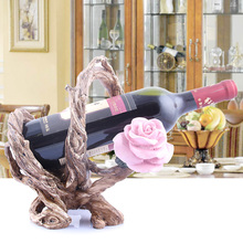 Wine rack wine cup holder fashion wine rack fashion tantalus roots goblet rack fashion quality rose household wine rack baijiu home decoration iron wine holder