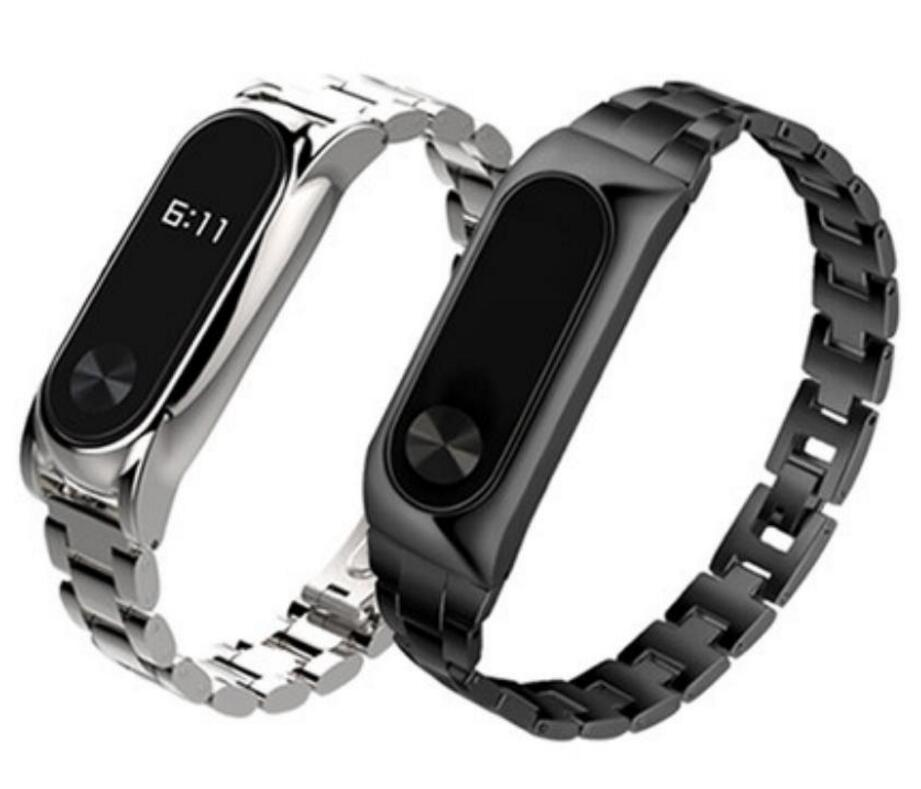Xiaomi Mi Band 2 Metal Strap Stainless Steel Wristband for MiBand 2 Bracelet Replace Adjustable Unisex Free shipping