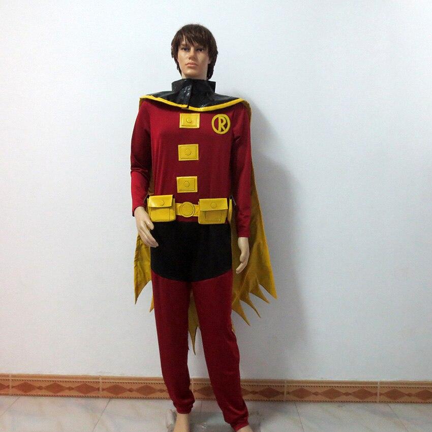 Batman DC Comics Justice League VS Teen Titans Damian Wayne Tim Drake Red Robin Cosplay Costume Customize Any Size