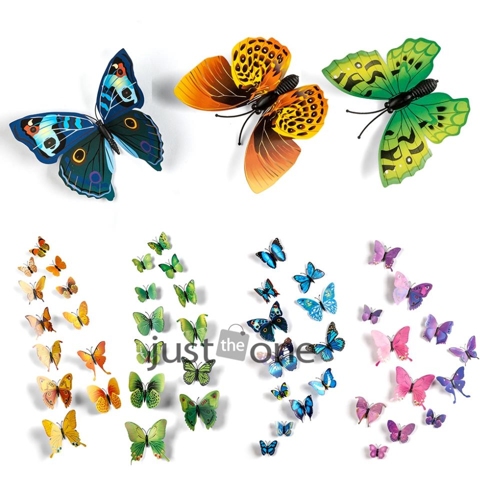 12 in 1 Vivid Pretty Butterfly Magnet for Home Decor Fridge Wall ...