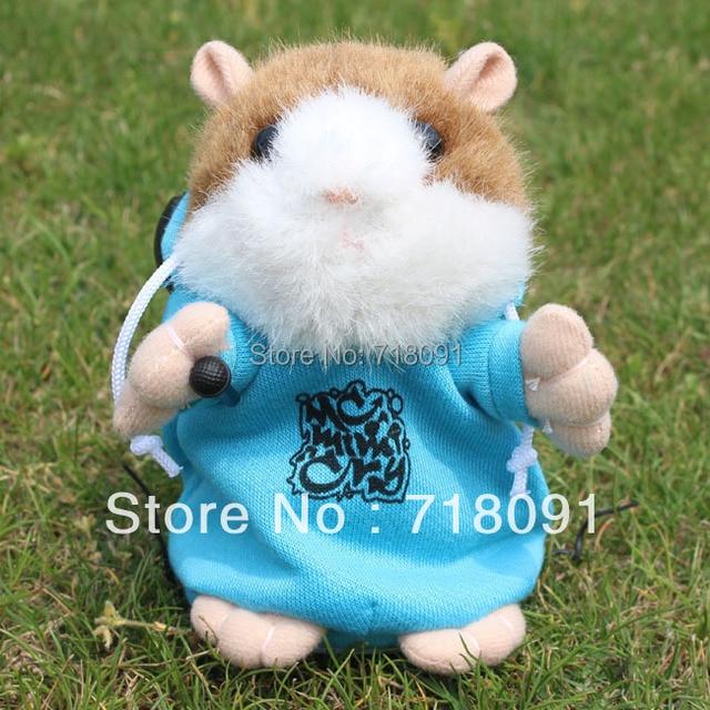 DJ Style Talking Toy Hamster,Electronic Pet Animal,15CM,1PC