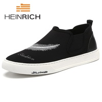 Генрих Новый 2018 холст Мужская обувь Демисезонный удобные Для мужчин повседневная обувь Легкие дышащие мужские туфли на плоской подошве