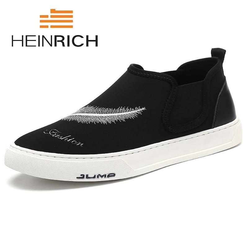 Flats Preto Primavera Respirável Outono Homens Plimsolls Novos De 2018 Sapatênis Shoes Lona Sapatos Casual Men Das Confortáveis Heinrich Sapatas UBZw0