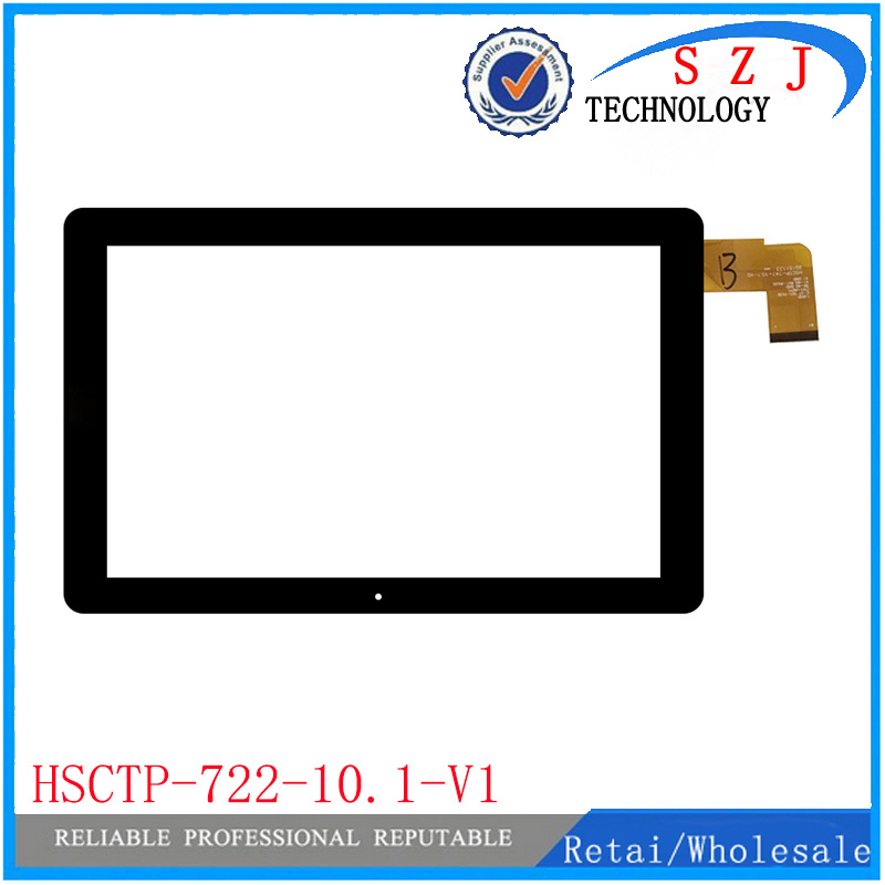 New 10.1 inch Touch Screen HSCTP-722-10.1-V1 for Chuwi Hi10 CW1515 Tablet PC Sensing Hole Digitizer Glass Panel Replacemen 2pcs lot brand new original 10 1 touch screen for chuwi hi10 cw1515 touchscreen digitizer glass touch panel glass replacement