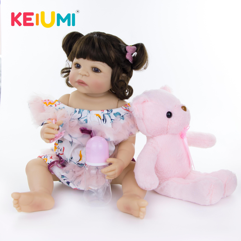 KEIUMI-muñecas realistas de bebé de 22 pulgadas para niñas, muñecos Reborn de vinilo, realistas, de 55 cm